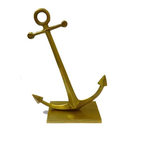 Anker goldfarben Badezimmer Bad Deko Figur Schiffsanker maritim ca. 40cm Metall