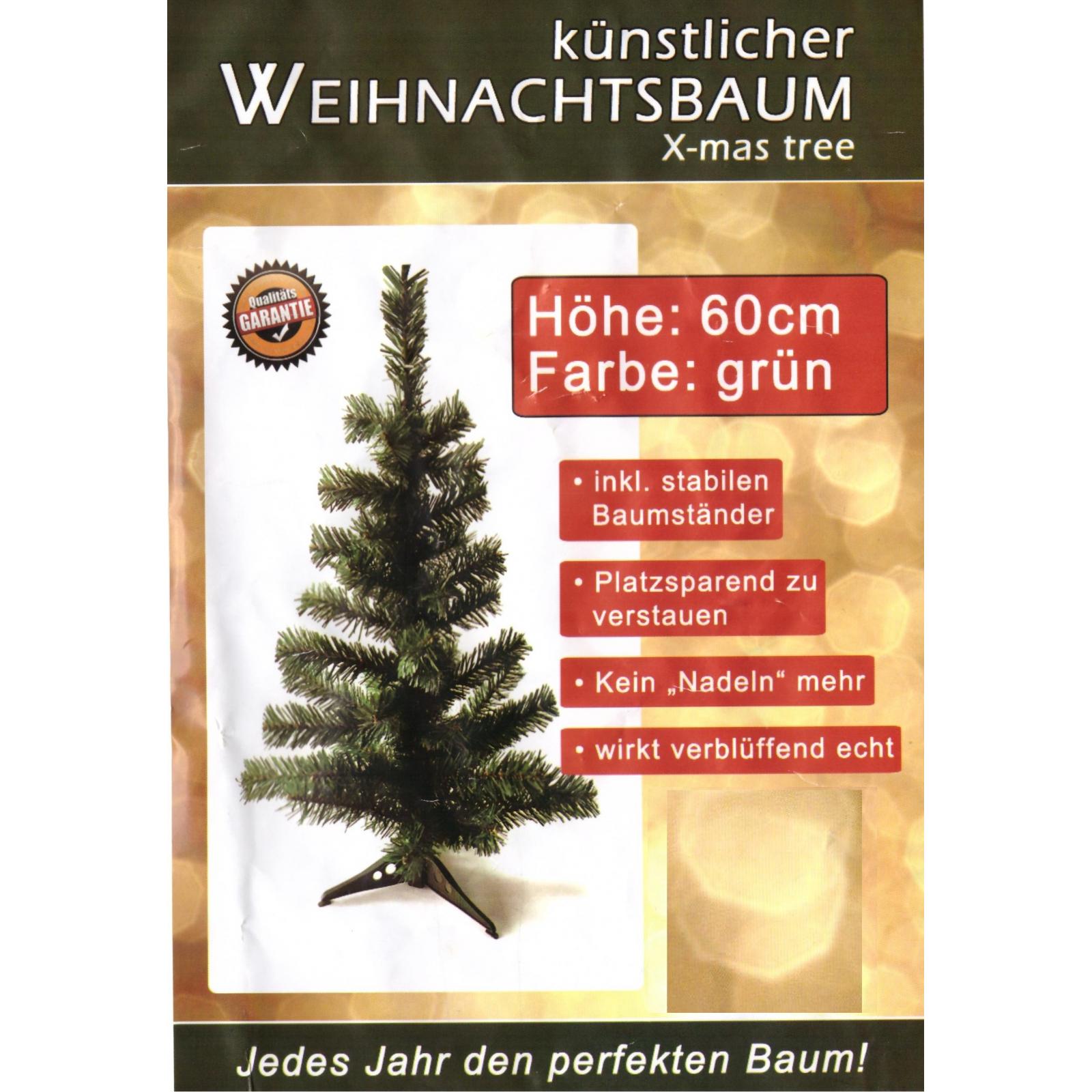k nstlicher tannenbaum gr n weihnachtsbaum 60cm christbaum. Black Bedroom Furniture Sets. Home Design Ideas
