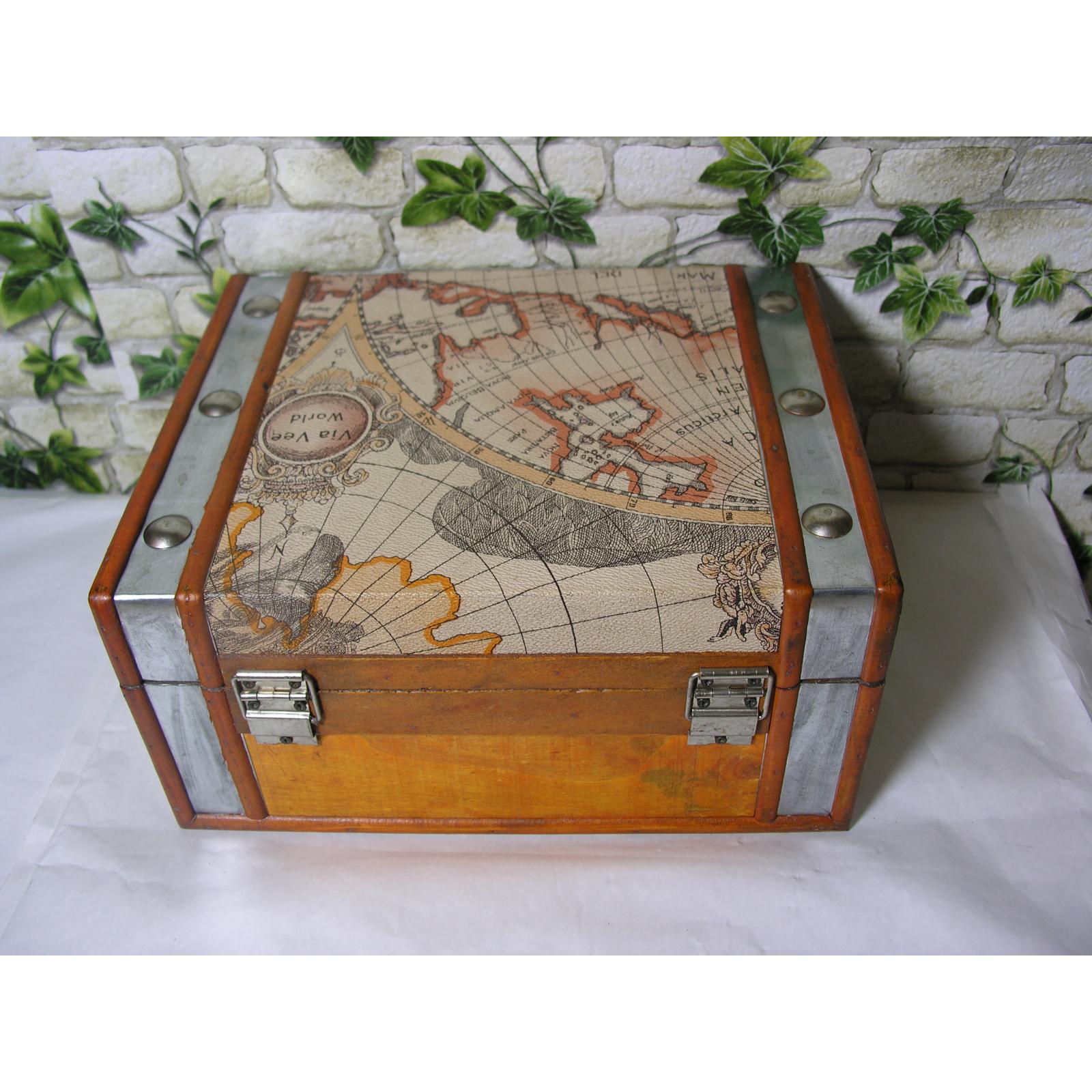 coffre de rangement atlas bac bo te pour d coration bois cuir ebay. Black Bedroom Furniture Sets. Home Design Ideas