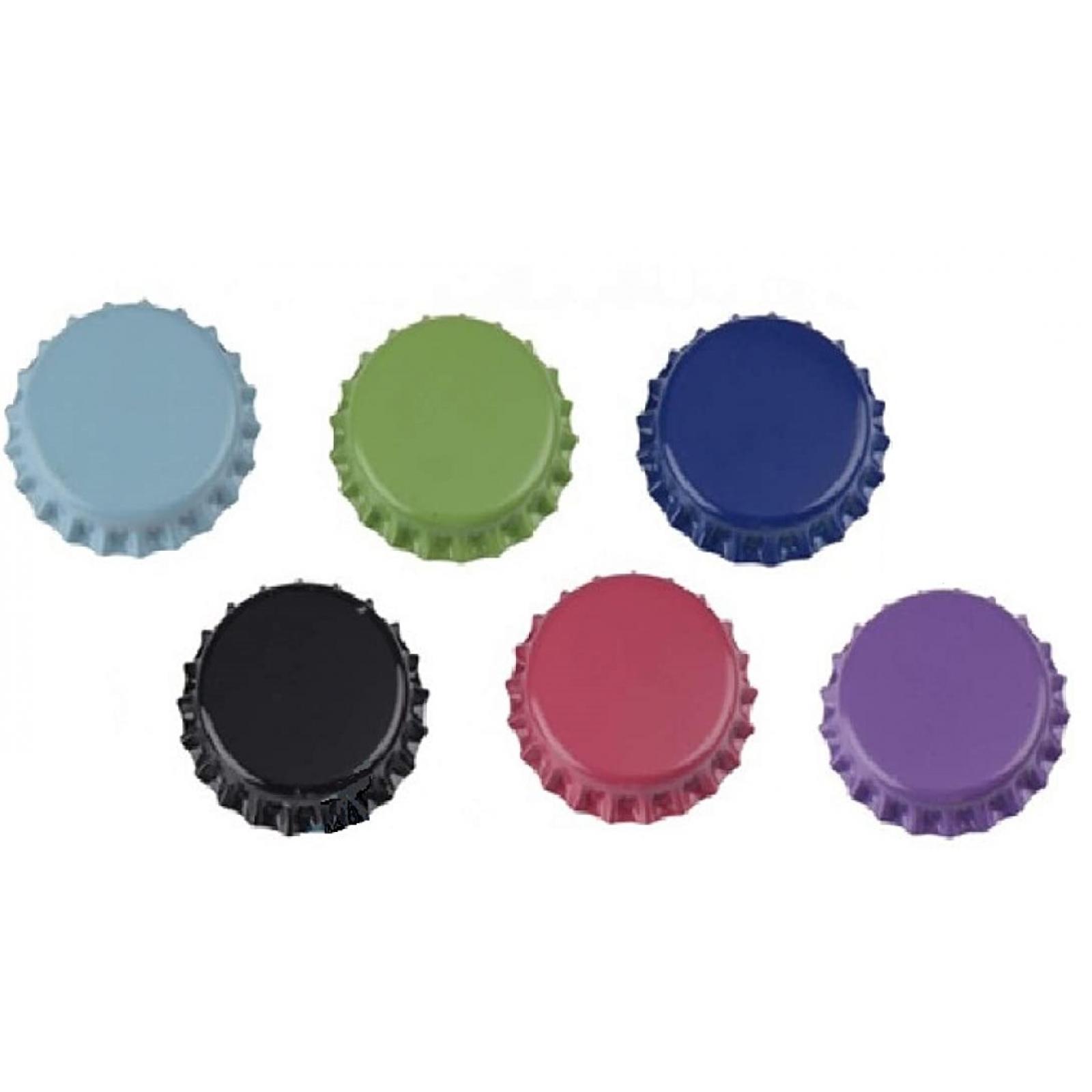 6x k hlschrank magnete kronkorken bunt 30mm memomagnet memohalter zettelhalter ebay. Black Bedroom Furniture Sets. Home Design Ideas
