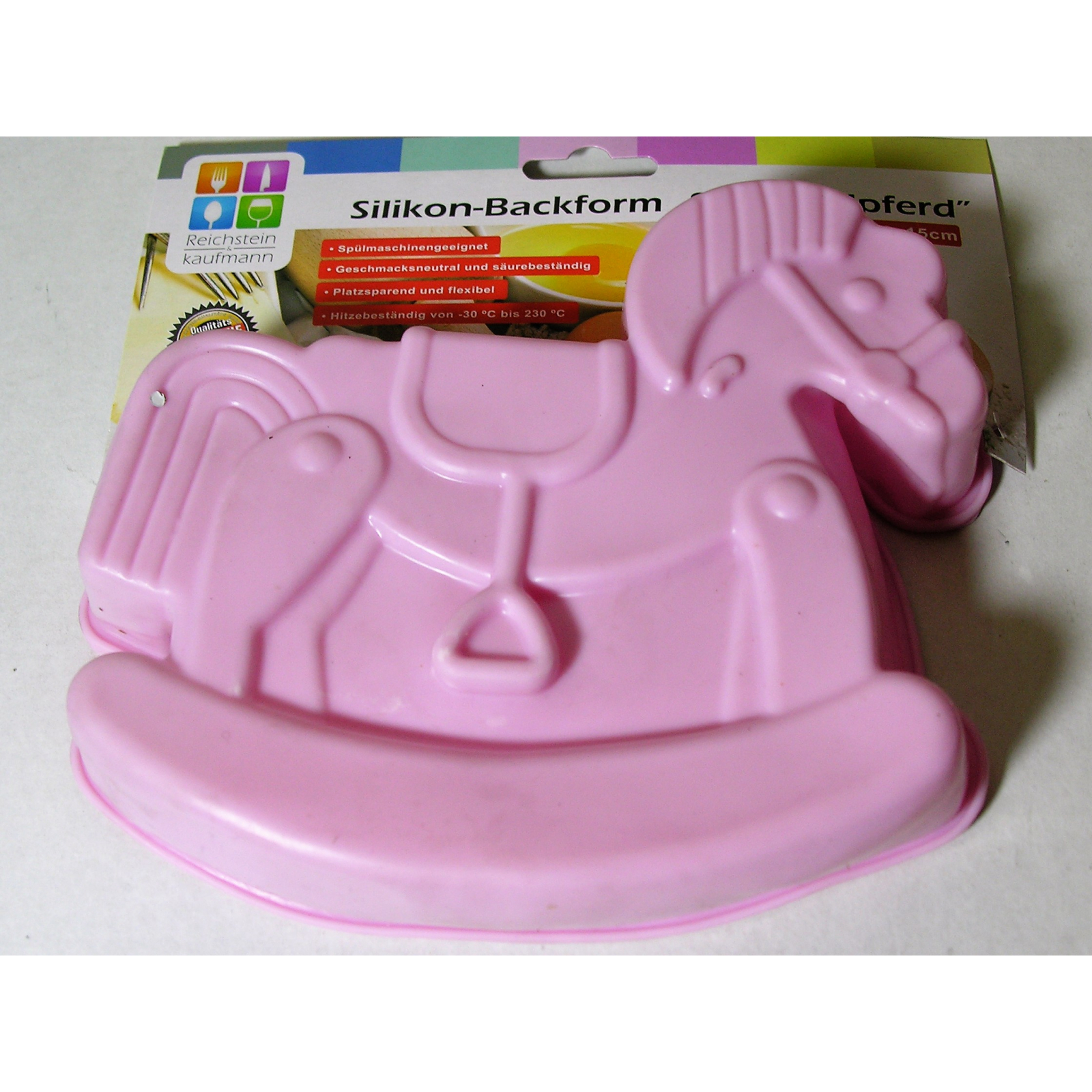 silikon backform schaukelpferd pink 18cm kuchen cupcake form kinder weihnachten ebay. Black Bedroom Furniture Sets. Home Design Ideas
