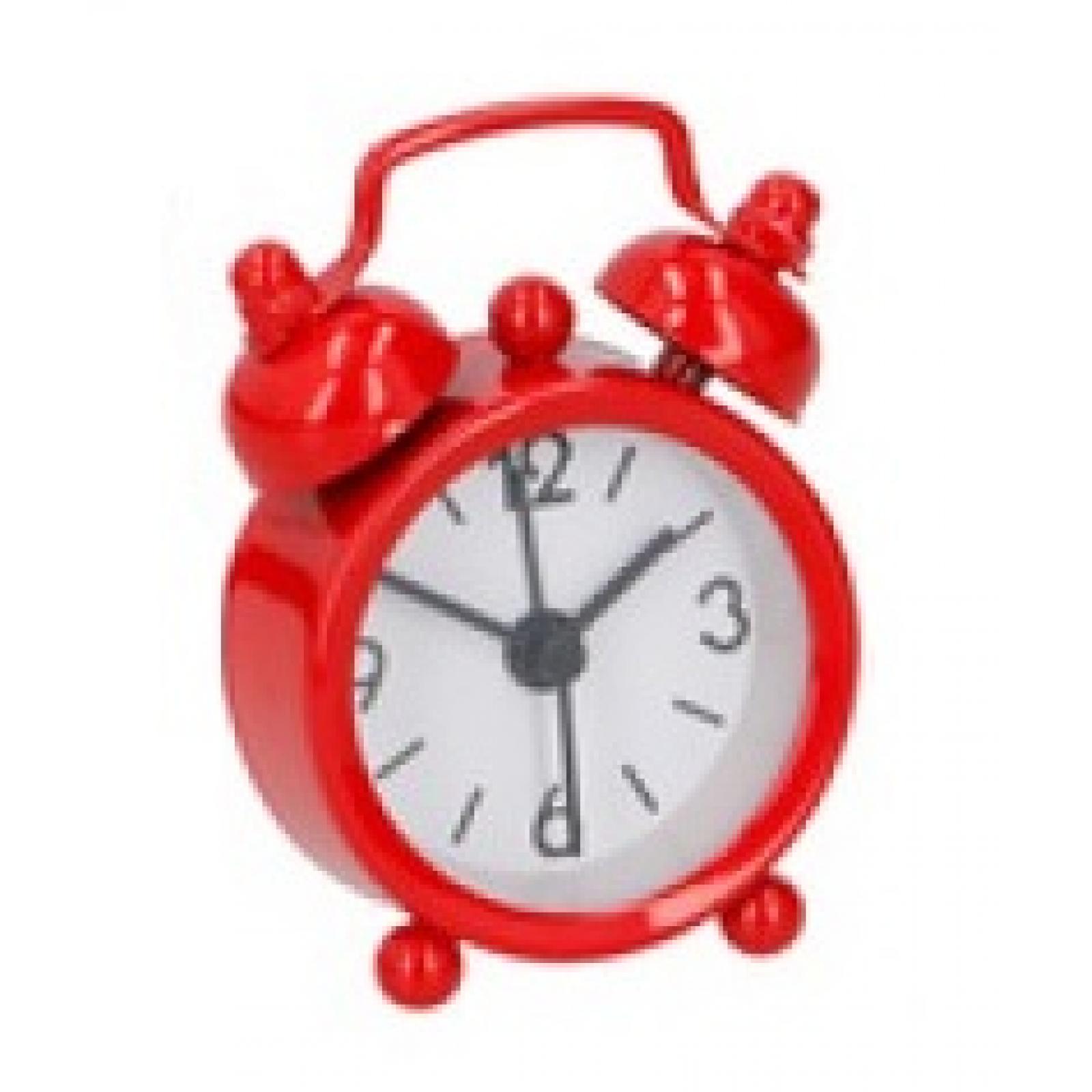 Mini Despertador De Viaje Reloj En 5 Colores Rojo Rosa Azul Negro