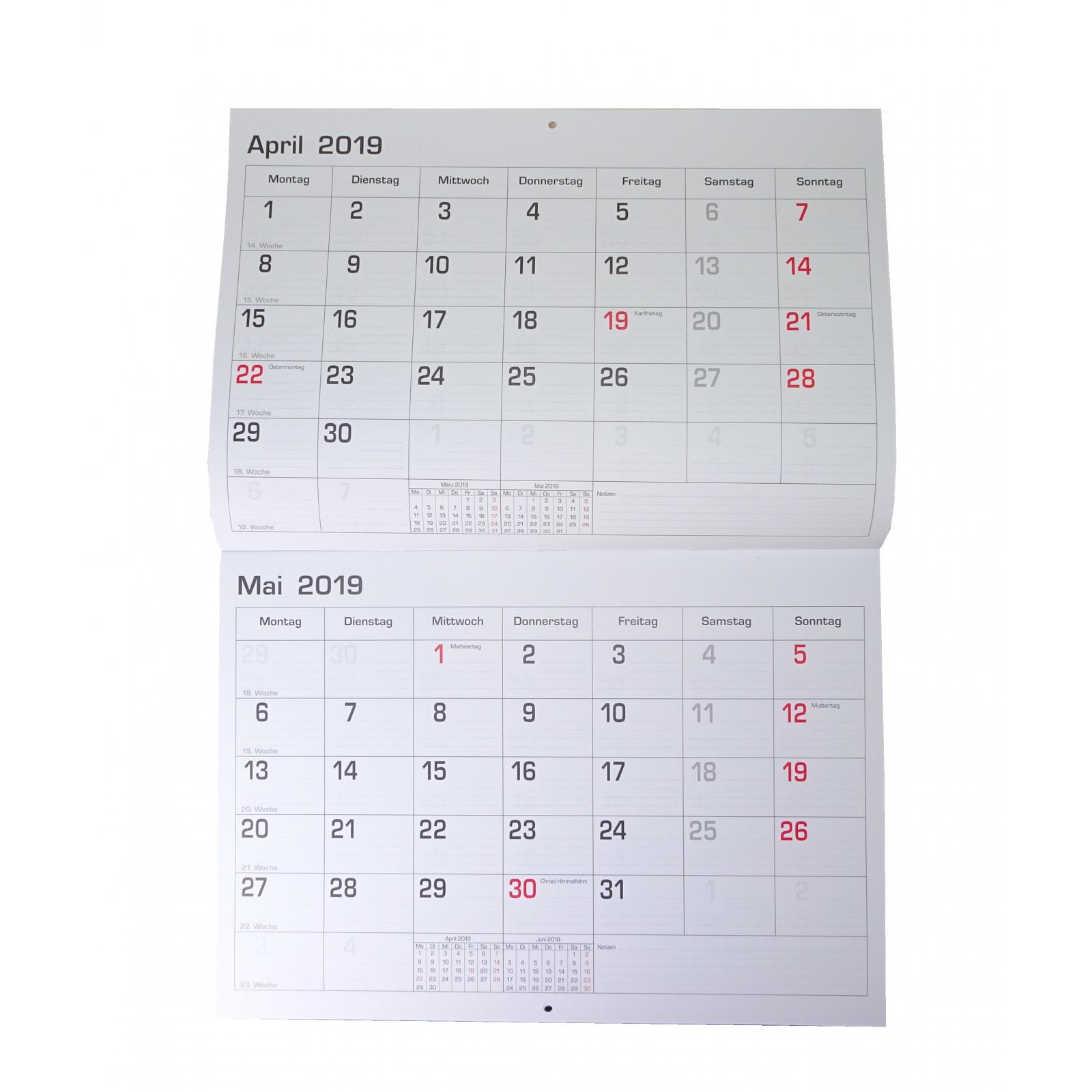 monatsplaner 2019 wand oder tischkalender 29 7x21cm kalender b ro termin planer ebay. Black Bedroom Furniture Sets. Home Design Ideas