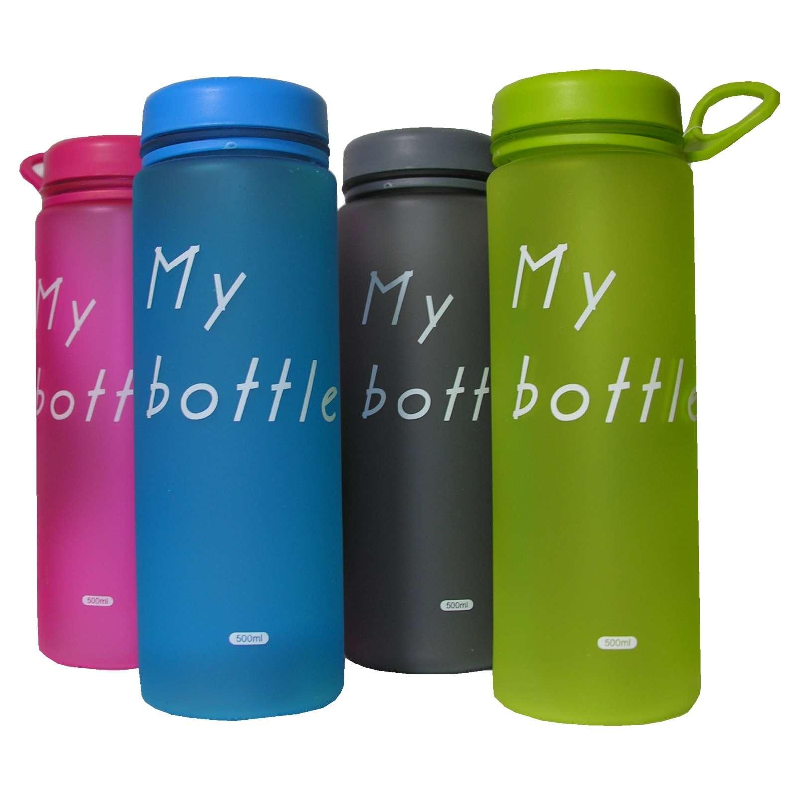2 Trinkflaschen Wasserflaschen Fahrrad Sport 500ml Kunststoff Flaschen BPA frei