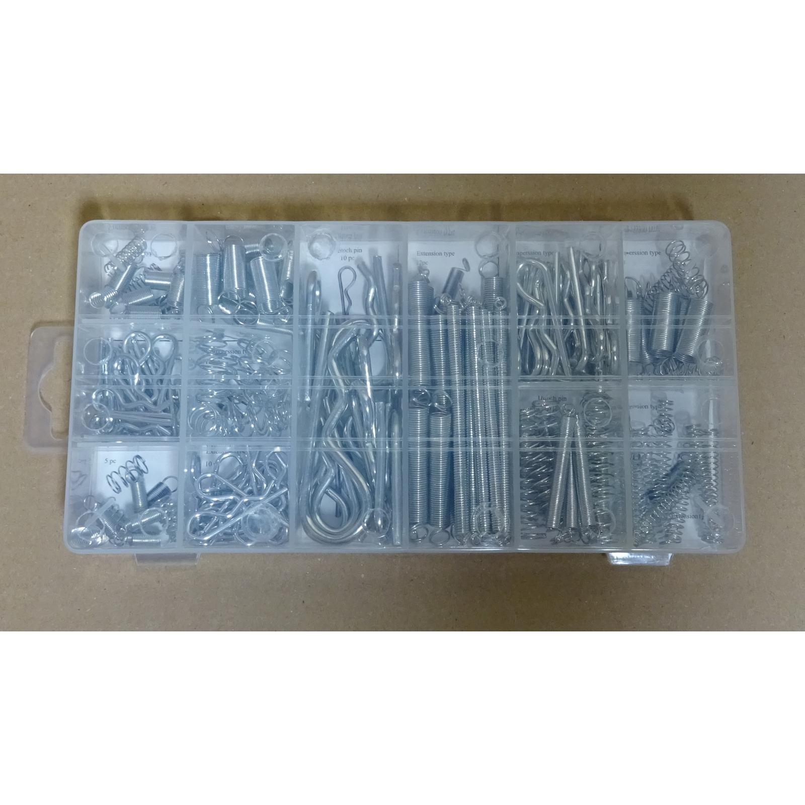 175tlg Feder und Splint-Sortiment Sicherungssplinte Federsplint groß Metall